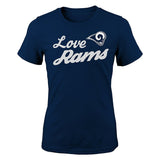 "Los Angeles Rams Girls Youth ""Live Love Team"" T-Shirt Navy"