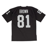Los Angeles Raiders Mens Mitchell & Ness #81 Tim Brown 1990 Authentic Jersey