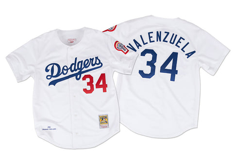 Los Angeles Dodgers Men's Mitchell & Ness #34 Valenzuela 1981 Authentic Jersey