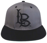 Cal State Long Beach Snapback Logo Retro Snapback Cap Hat 2 Tone Grey Black