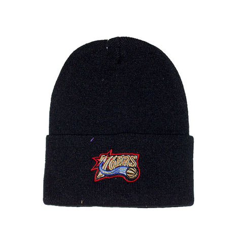 new product ce6e8 832bb ... coupon code philadelphia 76ers vintage nba beanie black 70d29 dc84d ...