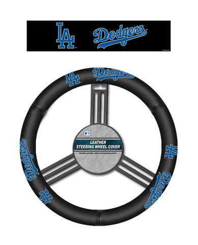Los Angeles Dodgers Auto Leather Steering Wheel Cover