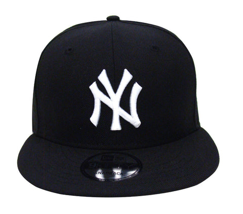 New York Yankees Snapback New Era White Logo Cap Hat Black