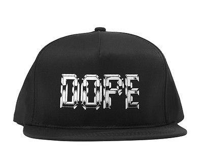 Dope Snapback Impact Cap Hat All Black