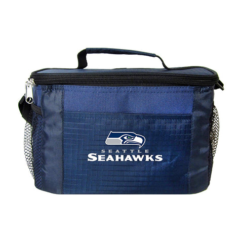 Seattle Seahawks 6-Pack Cooler Lunch Bag Black
