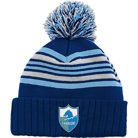 San Diego Chargers Youth Embroidered Pom Beanie Fold Cap