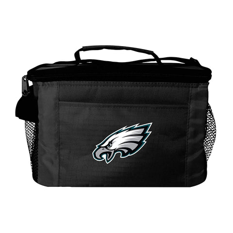 Philadelphia Eagles 6-Pack Cooler Lunch Bag Black