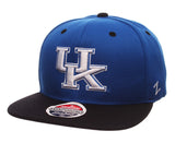Kentucky Wildcats Snapback Zephyr Z11 Cap Hat Blue Black