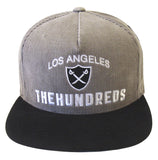 The Hundreds Home Snapback Style Strapback Cap Hat Grey Corduroy Black Suede