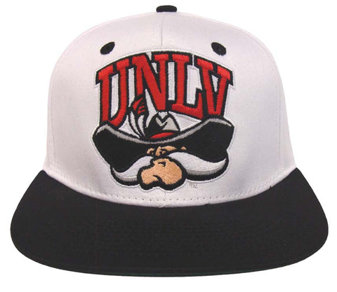UNLV Runnin Rebels Snapback Retro 2 Tone NL Cap Hat White Black