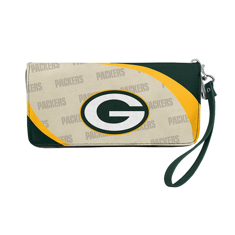 Green Bay Packers Womens Wallet Curve Zip Organizer