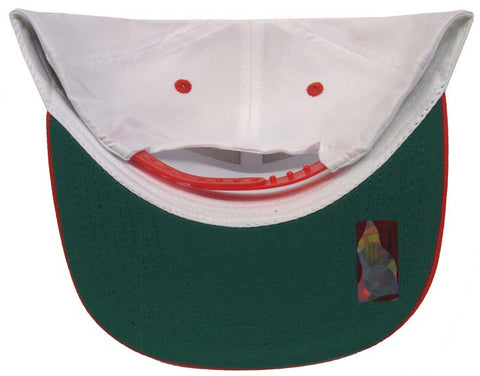 UNLV Runnin Rebels Snapback Retro 2 Tone Script Cap Hat White Red ... aea97b9d2c47