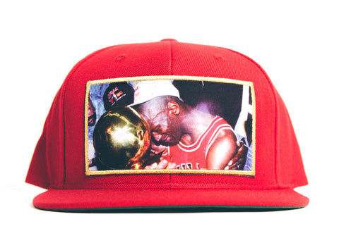 Heisman Legends Chicago Bulls Snapback Michael Jordan Trophys Cap Hat Red