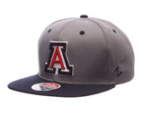 Arizona Wildcats Snapback Zephyr Z11 Slate Cap Hat Grey Navy