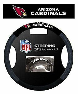Arizona Cardinals Black Poly-suede & Mesh Steering Wheel Cover