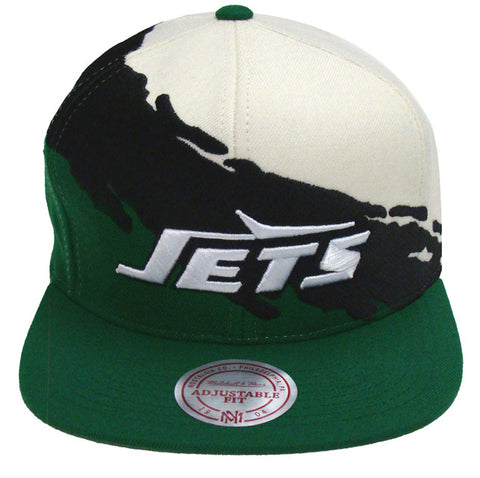 New York Jets Snapback Mitchell & Ness Paint Cap Hat