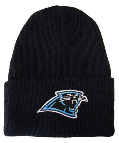 Carolina Panthers Embroidered Beanie Ski Cap Black
