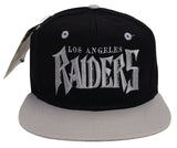 Los Angeles Raiders Snapback Vintage Spiky Logo Cap Hat Black Grey