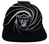 Los Angeles Raiders Snapback Vintage Swirl Cap Hat Black