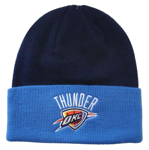 Oklahoma City Thunder Beanie Embroidered Adidas Fold Cap Navy Blue