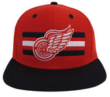 Detroit Red Wings Snapback Retro Billboard Hat Cap Red Black