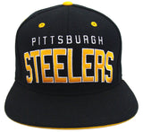 Pittsburgh Steelers Snapback Retro Reebok Block Cap Hat Black