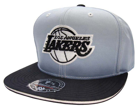 Los Angeles Lakers Fitted Mitchell & Ness The Fade 2 Tone Grey Black Cap Hat