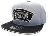 San Antonio Spurs Fitted Mitchell & Ness The Fade Grey Black Cap Hat
