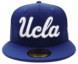UCLA Bruins Fitted New Era 59Fifty Script Blue Cap Hat