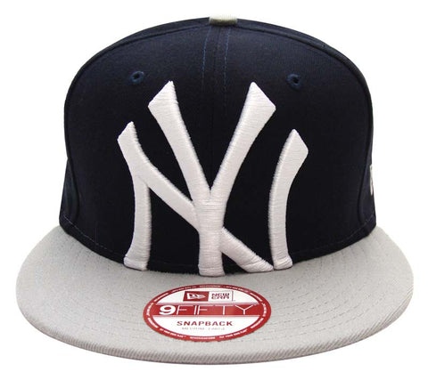 New York Yankees Snapback New Era Crop Ready Cap Hat 2 Tone White Navy Grey