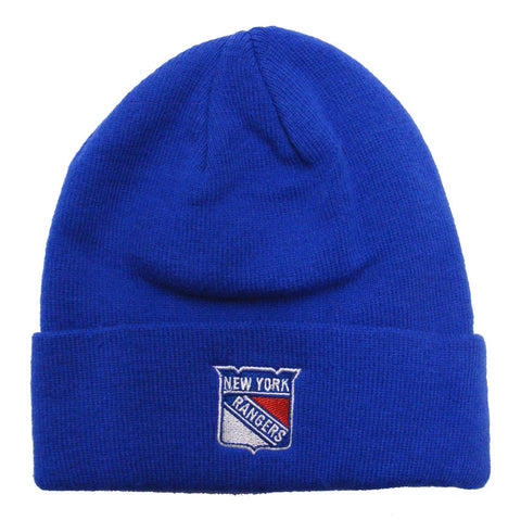 New York Rangers Beanie Zephyr Embroidered Blue Knit Fold