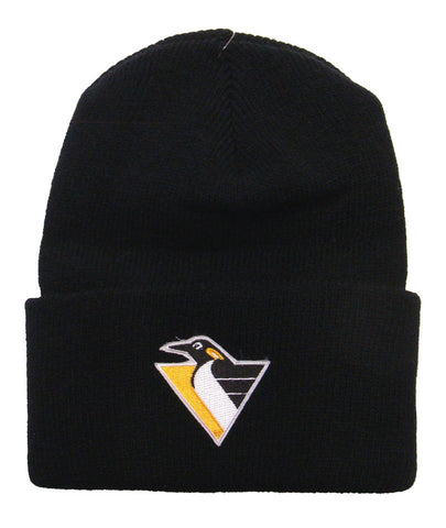 Pittsburgh Penguins Beanie Schuessler Embroidered Black Knit Fold