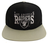 Los Angeles Raiders Snapback Vintage Block Cap Hat Black Grey