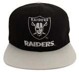 Los Angeles Raiders Snapback Vintage Name & Logo Cap Hat Black Grey