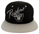 Los Angeles Raiders Snapback Vintage Script Logo Cap Hat Black Grey