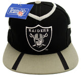 Los Angeles Raiders Snapback Vintage Peak Cap Hat Black Grey