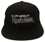Los Angeles Raiders Snapback Vintage Script Cap Hat Black