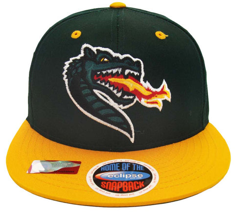 Alabama Birmingham Blazers Snapback Retro Logo Cap Hat Green Yellow
