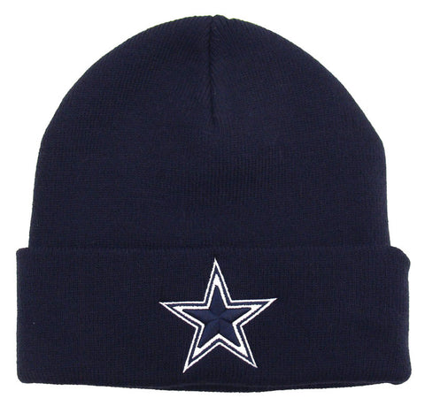 Dallas Cowboys Embroidered Beanie Fold Ski Cap Navy