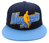 Denver Nuggets Snapback Adidas Jumbo Name NBA Man Cap Hat Navy Blue