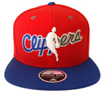 Los Angeles Clippers Snapback Adidas Retro NBA Man Logo Cap Hat Red Blue
