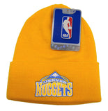 Denver Nuggets Beanie Vintage Embroidered Ski Fold Cap Yellow