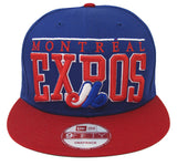 Montreal Expos Snapback New Era LE Arch Retro Cap Hat Blue Red