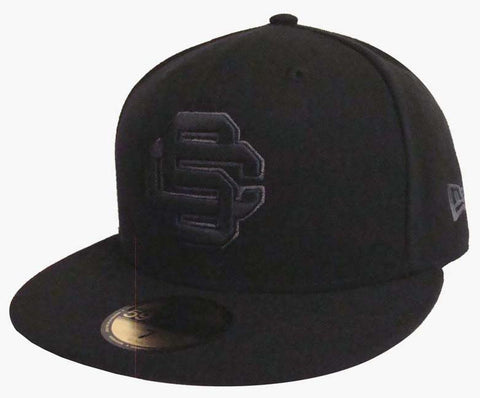 USC Trojans Fitted New Era 59Fifty Black Charcoal Outline Cap Hat