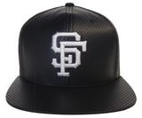 San Francisco Giants Snapback Retro AN Delirious Black Faux Leather Cap Hat