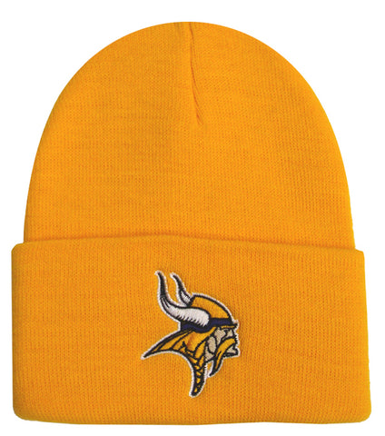 Minnesota Vikings Embroidered Beanie Fold Ski Cap Yellow