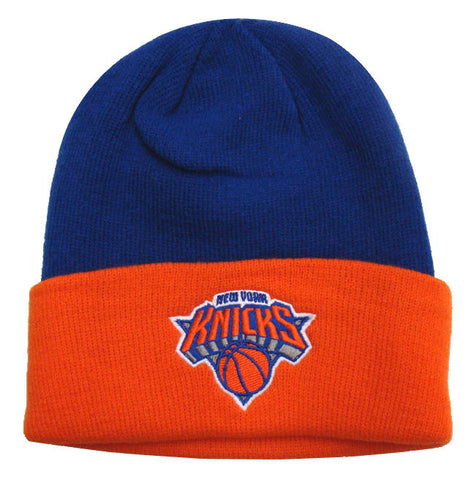 New York Knicks Beanie Adidas Embroidered 2 Tone Fold Cap Hat