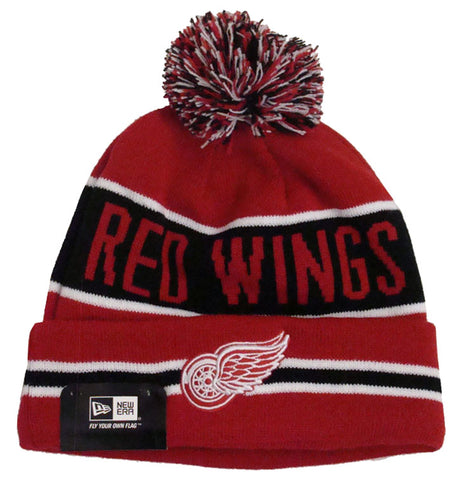 Detroit Red Wings Beanie New Era The Coach Knit Cap Red