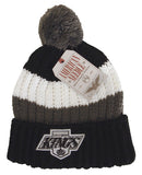 Los Angeles Kings Beanie AN Slope Pom Top Cuff Knit 2 Tone Hat