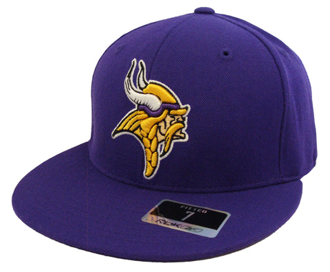 Minnesota Vikings Fitted Reebok Logo Cap Hat Purple